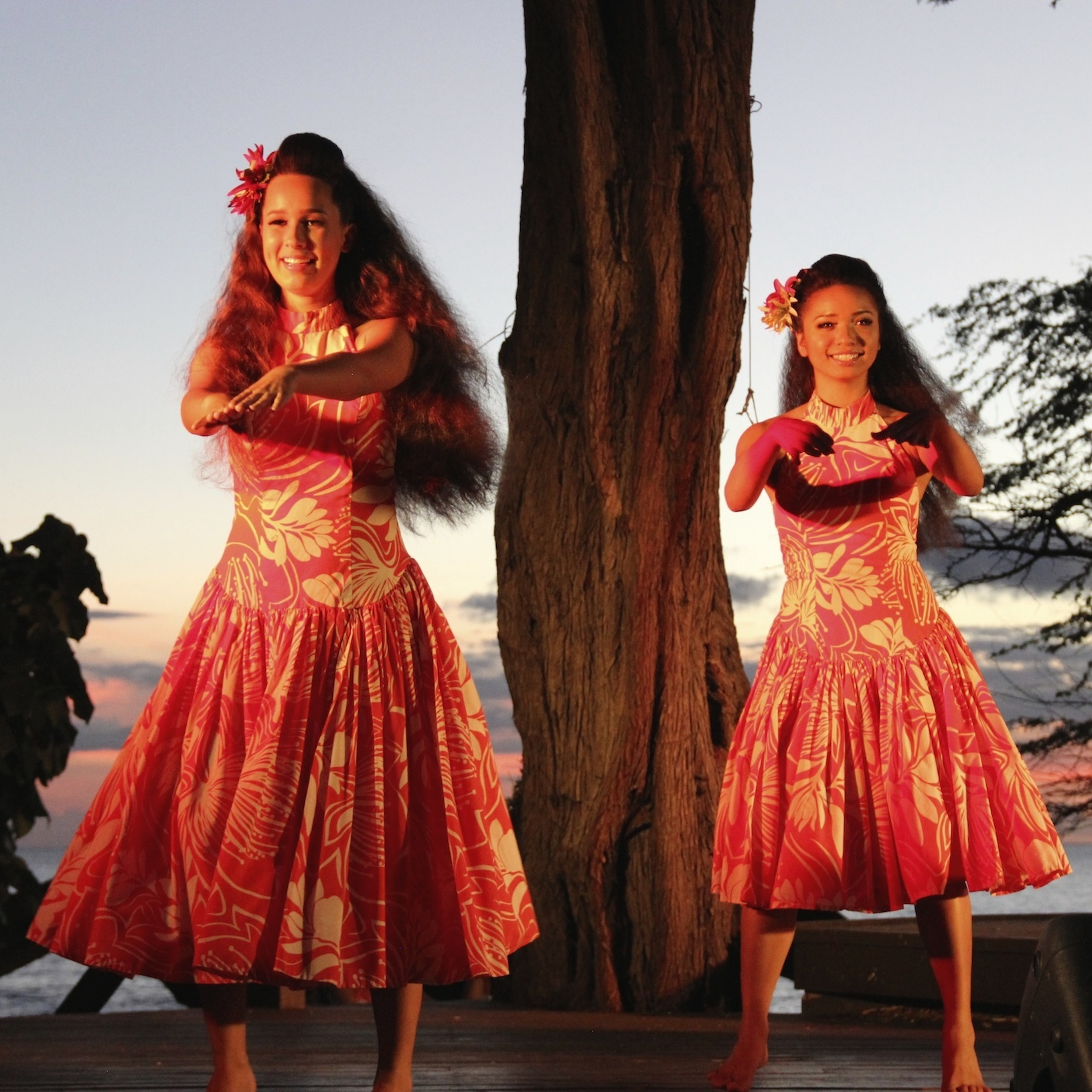 Lim Family Luau dancers at the Mauna Kea Resort Hotel