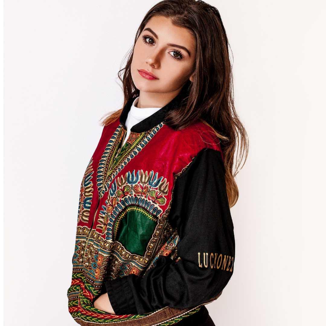 The lucky onez, red dashiki, jacket, 360 MAGAZINE, apparel, streetwear
