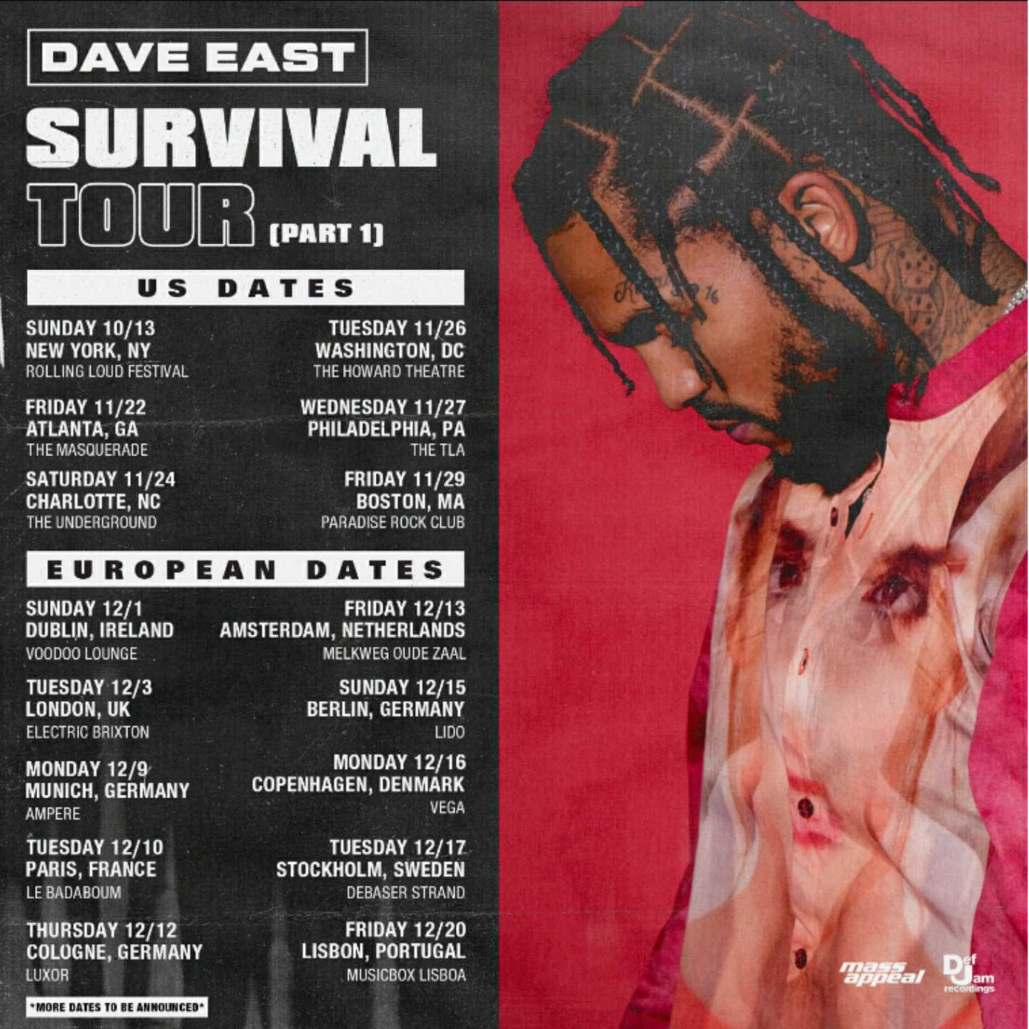 Dave East, Survival Tour, Survival Album, 360 MAGAZINE, Def Jam, rapper, hip hop, wu-tang, method man