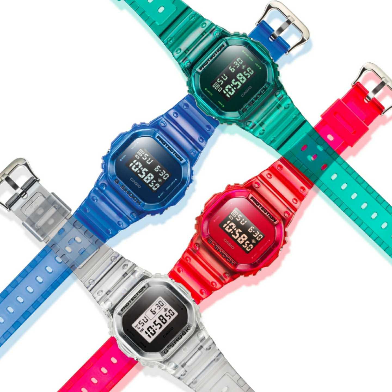 Jelly, transparent, watches, timepieces, accessories, G-Shock, Casio, 360 MAGAZINE