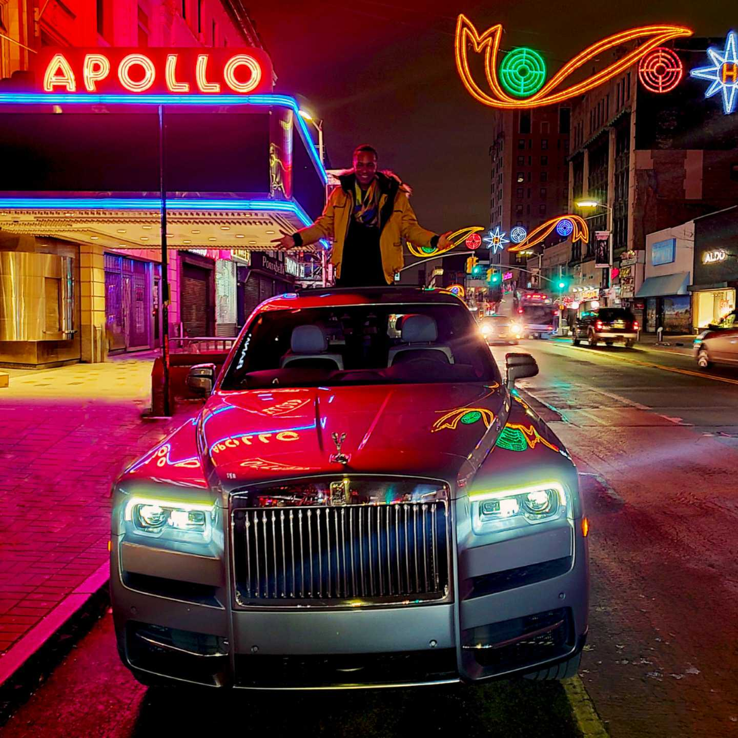 Vaughn Lowery, 360 MAGAZINE, NYC, Harlem, apollo theater, Rolls-Royce, cullinan, luxury, bespoke, style, fashion, holiday season