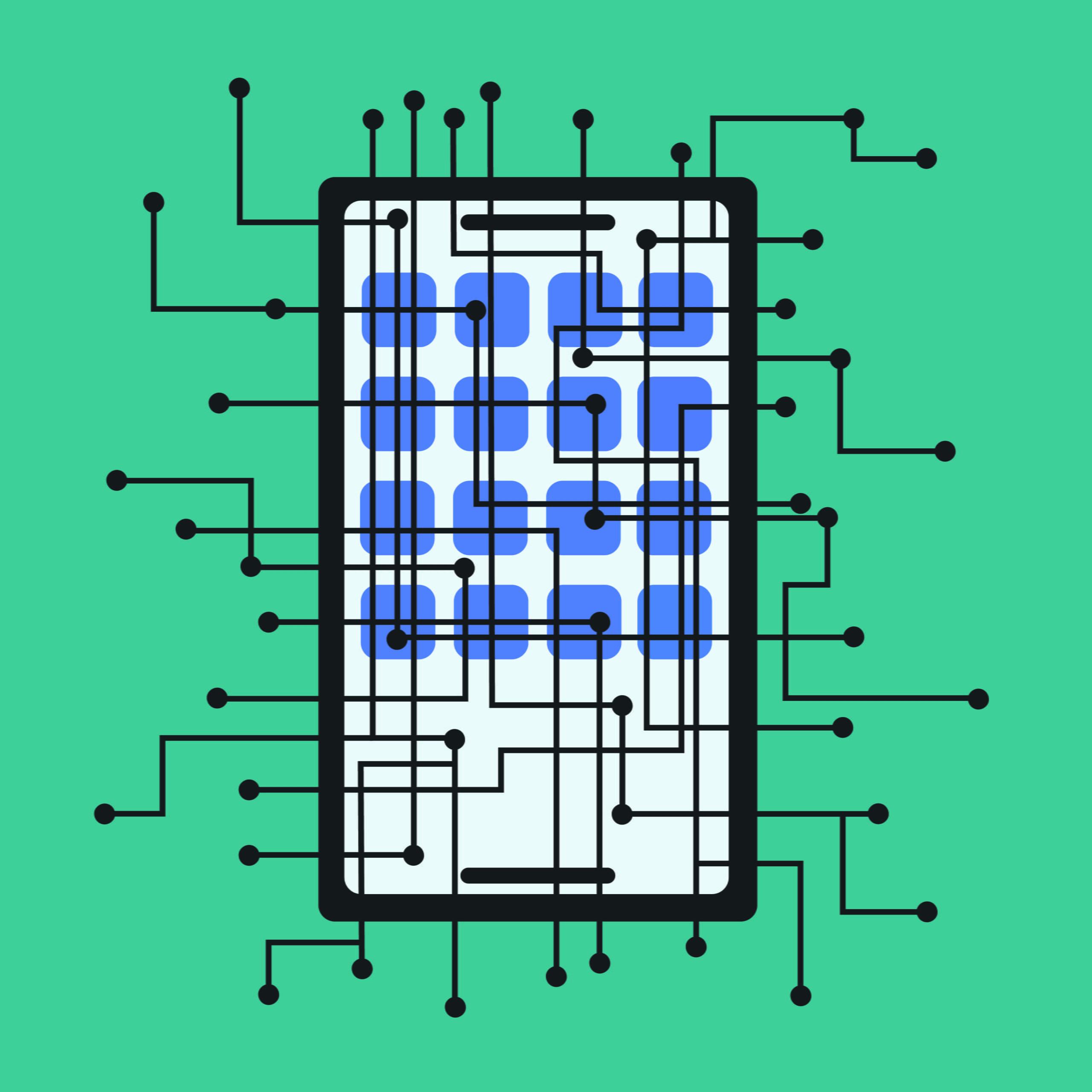 smartphones, cell, tech, app, illustration, 360 MAGAZINE, sara sandman