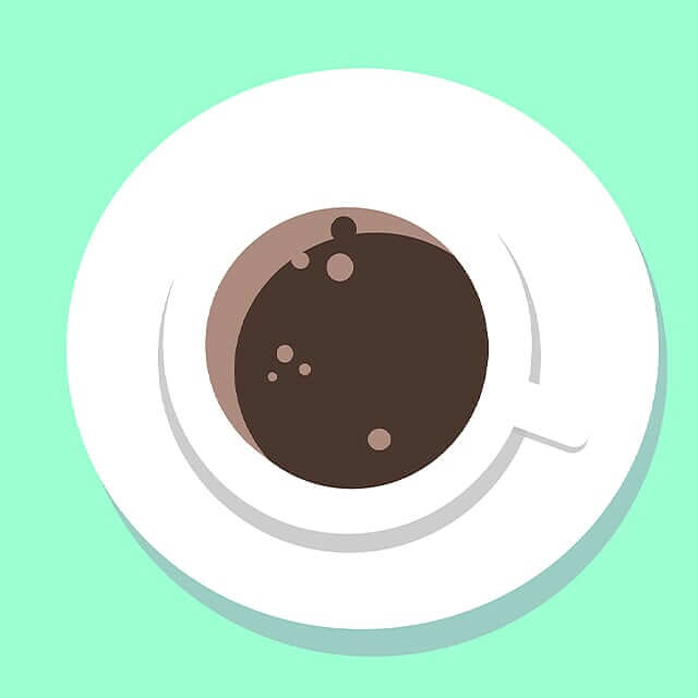coffee, mug, plate, cocoa, green, white, brown, 360 Magazine, illustration