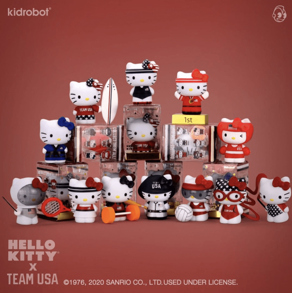 hello kitty x team USA, 360 magazine