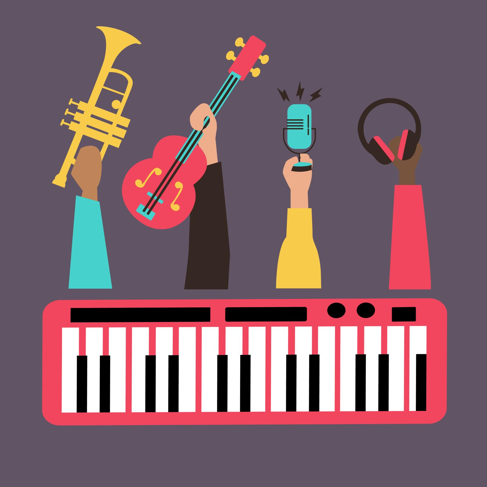 Instrument illustration by Ivory Rowen for 360 Magazine