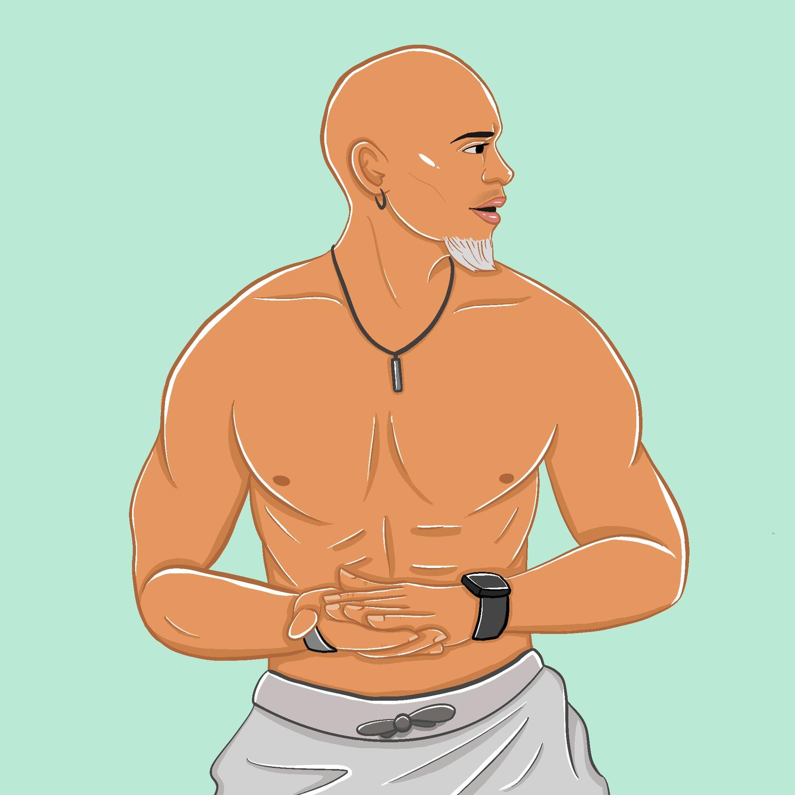 Kupah James, 360 MAGAZINE, fitness, illustration, Allison Christensen