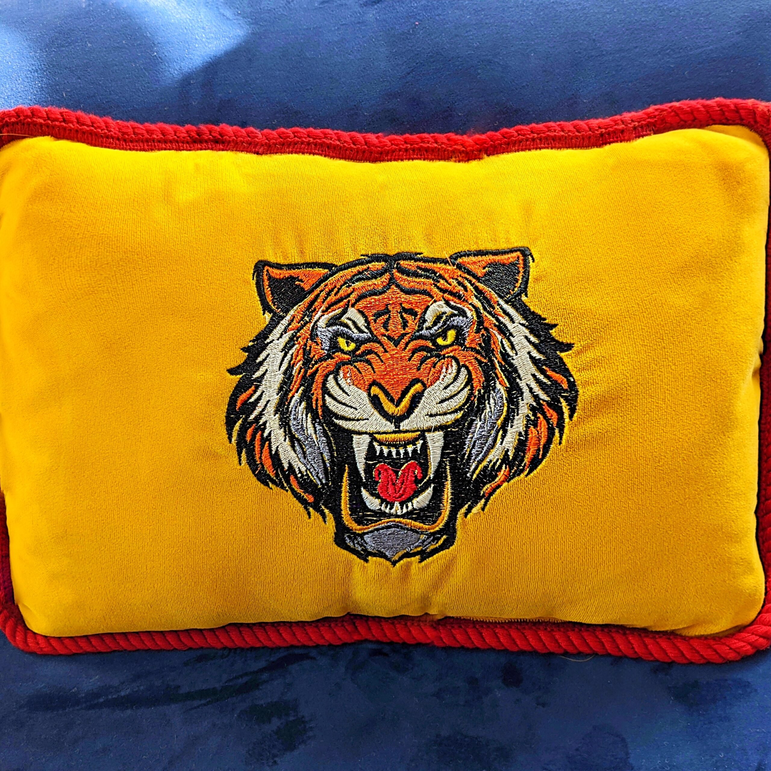 Sewing project tiger pillow