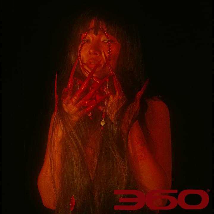 Kinida red acrylics red lighting @kinidakini @playthetrack9 @iamsocialadam