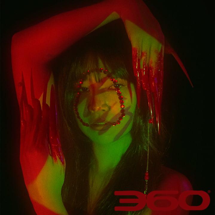 Kinida red acrylics @kinidakini @playthetrack9 @iamsocialadam