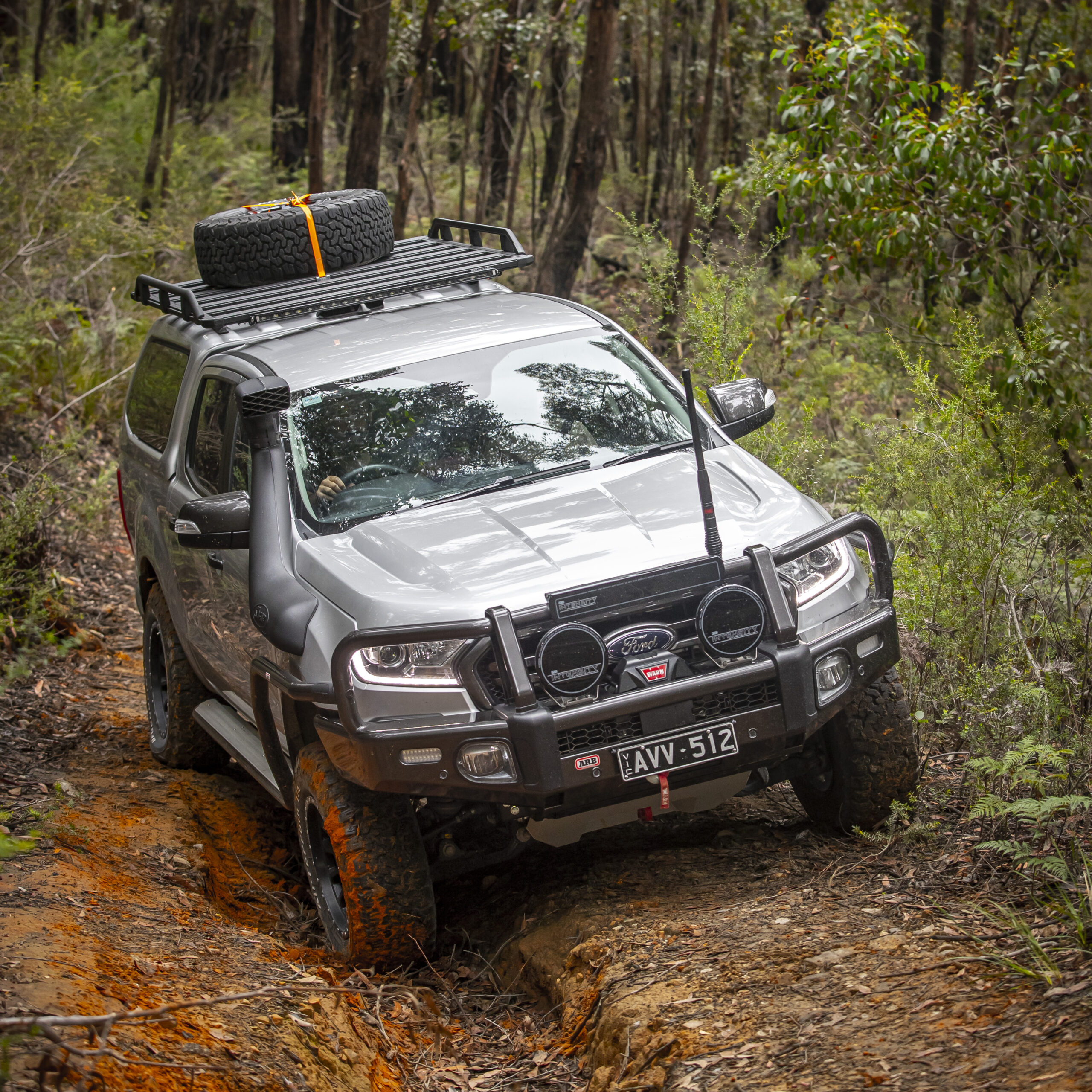 ARB Base Rack on car in forest