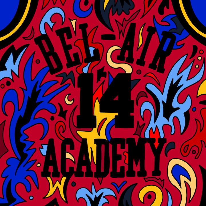 Bel-Air Academy Basketball Jersey illustration done by Mina Tocalini of 360 MAGAZINE.