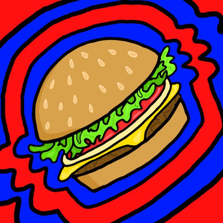 Mina Tocalini, 360 Magazine, Burger