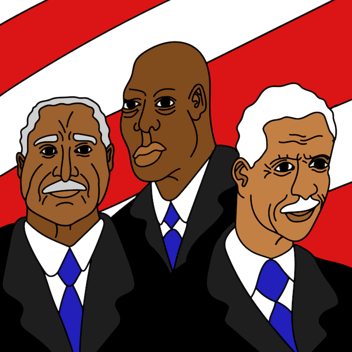 Civil Rights Icons illustration done by Mina Tocalini of 360 MAGAZINE.