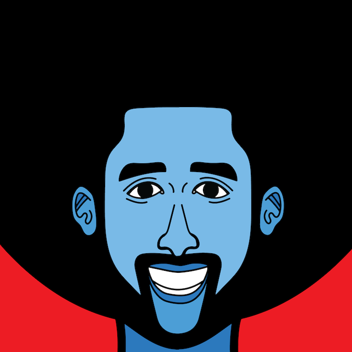 Colin Kaepernick illustrated by Mina Tocalini for 360 MAGAZINE.