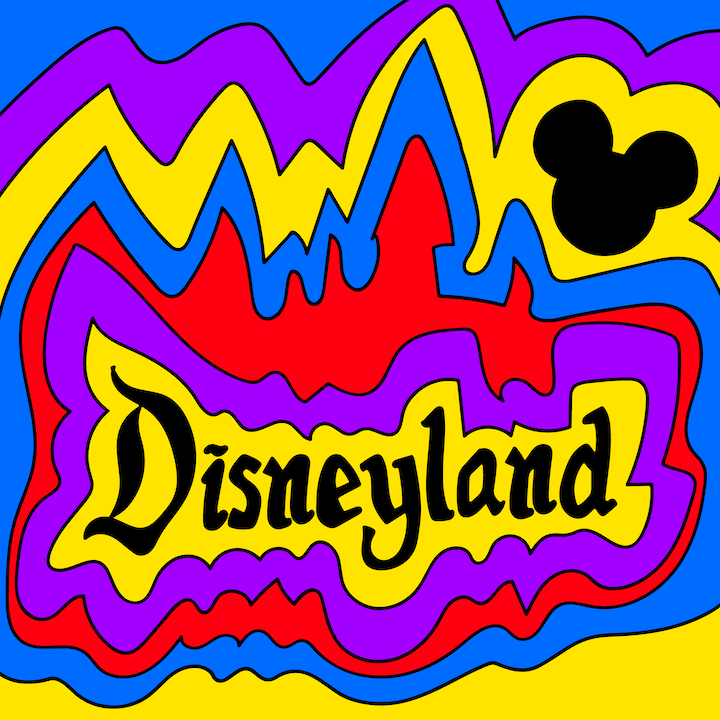 Disneyland illustrated by Mina Tocalini for 360 MAGAZINE.