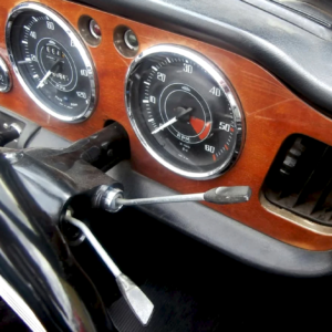 Photo of Triumph TR4 & TR4A interior front by Veloce Publishing.