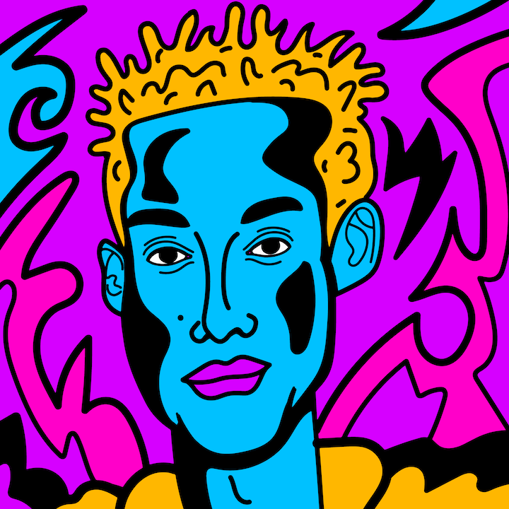 Jaden Smith illustration done by Mina Tocalini of 360 MAGAZINE.