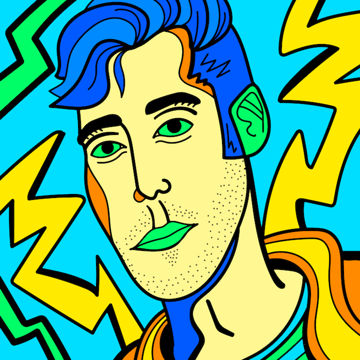 Lauv illustration done by Mina Tocalini of 360 MAGAZINE.