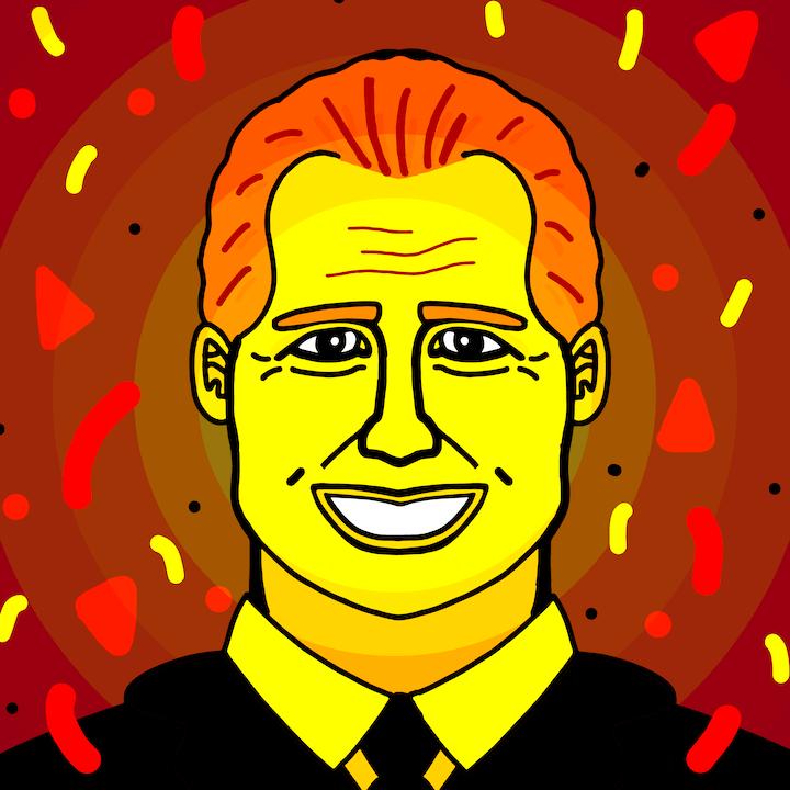 President Ford Birthday Illustration by Mina Tocalini