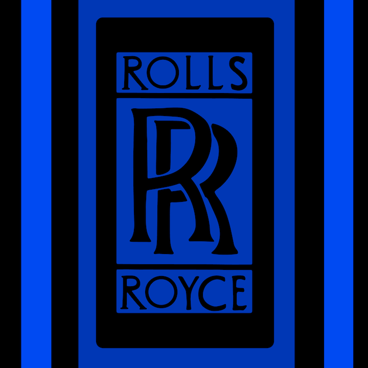 Rolls Royce Logo illustration done by Mina Tocalini of 360 MAGAZINE.