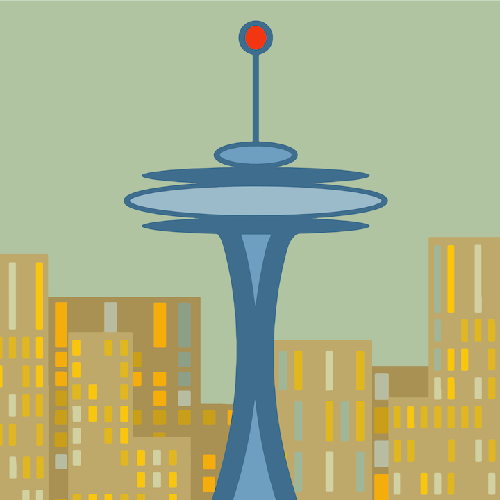 Seattle Illustration by Mina Tocalini