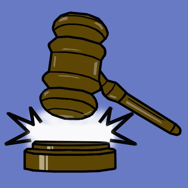 banging gavel illustration