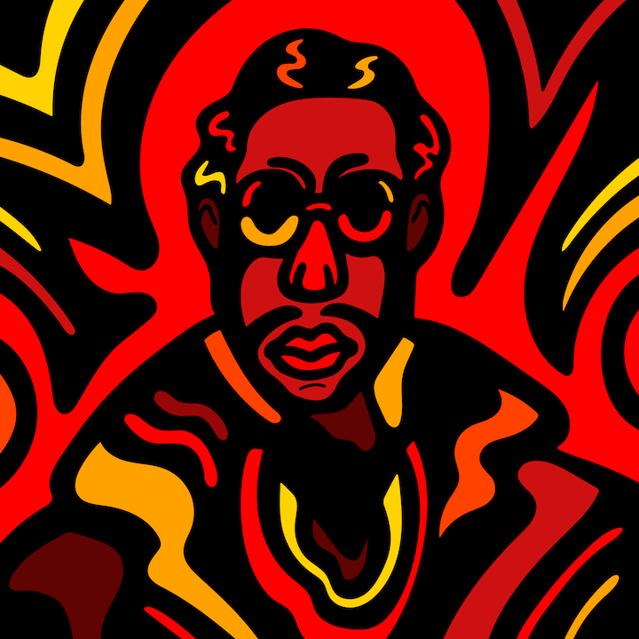 2 Chainz illustration done by Mina Tocalini of 360 MAGAZINE.