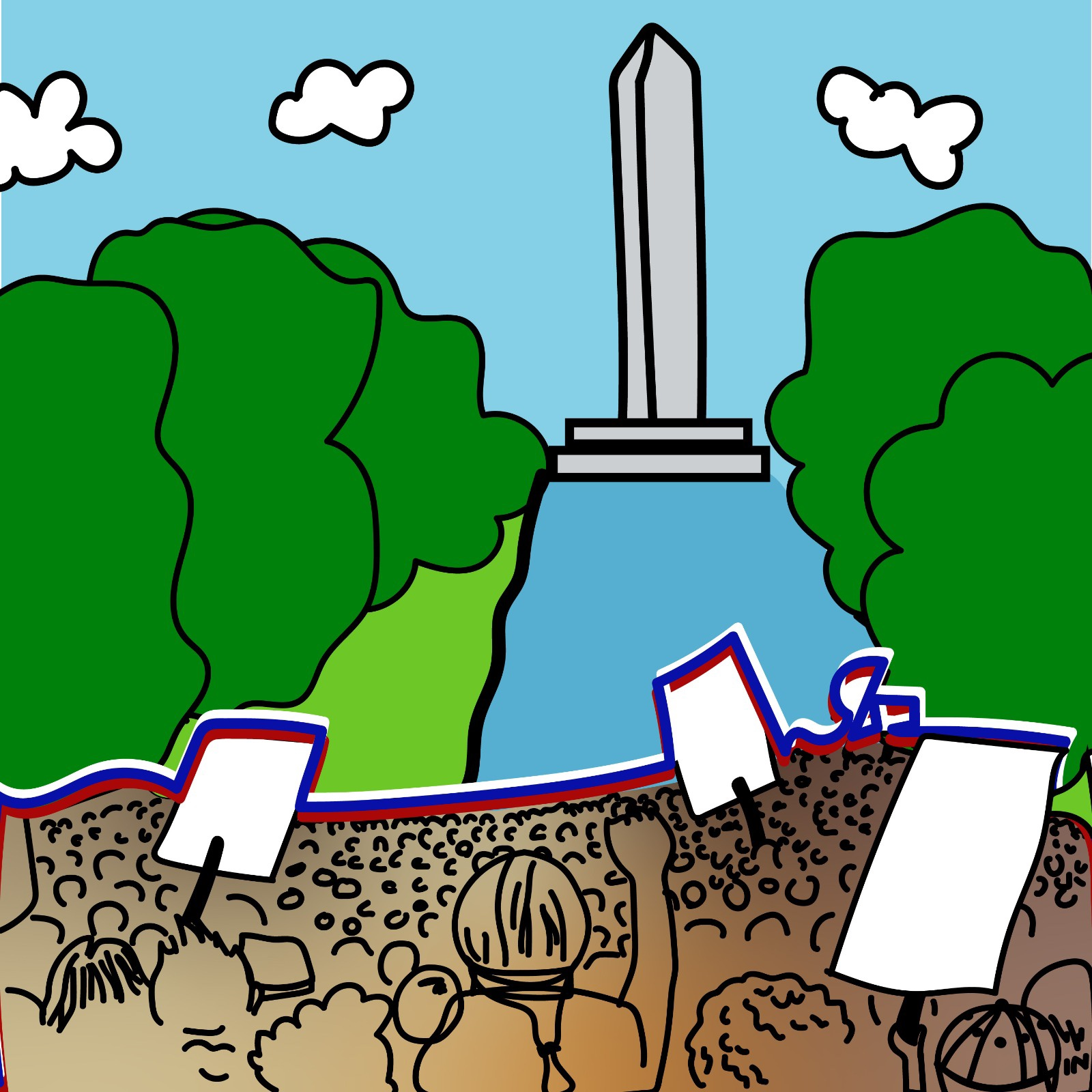 Rita Azar illustrates March on Washington for 360 MAGAZINE
