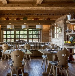 Quaint and charming indoor dining at The Refuge de la Traye