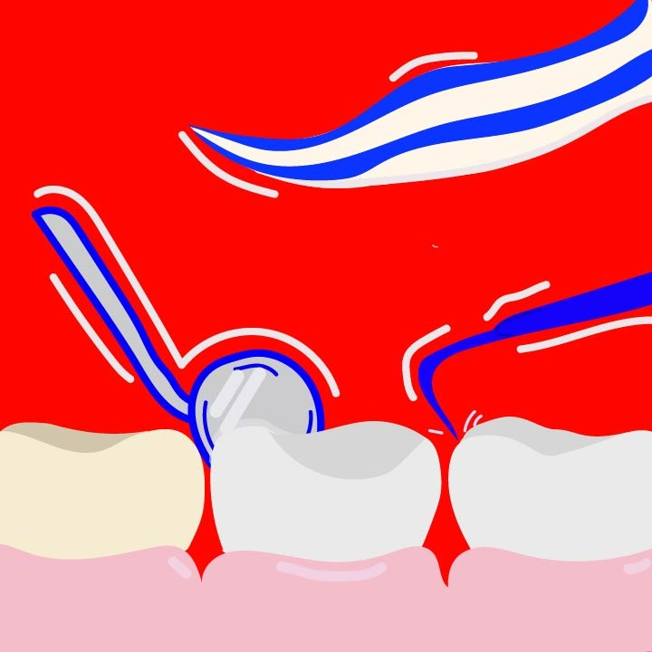 Dentistry illustration for 360 MAGAZINE by Rita Azar