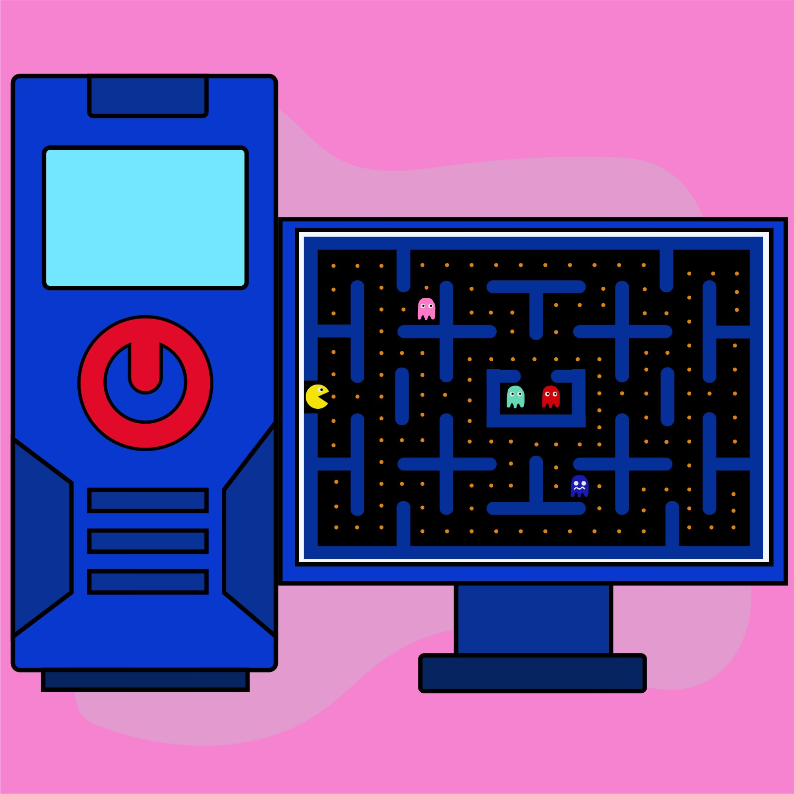 Rita Azar illustrates a video game article for 360 MAGAZINE