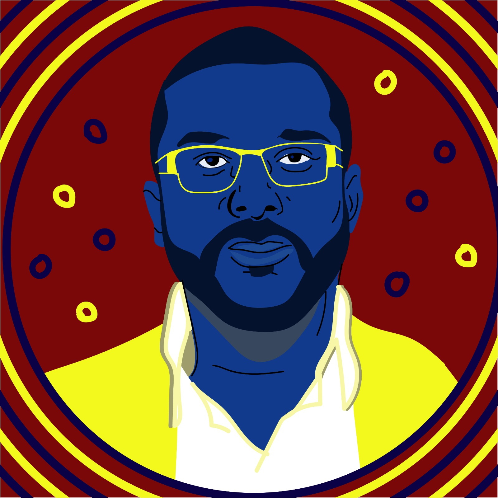 Tyler Perry illustrated for 360 magazine by Rita Azar