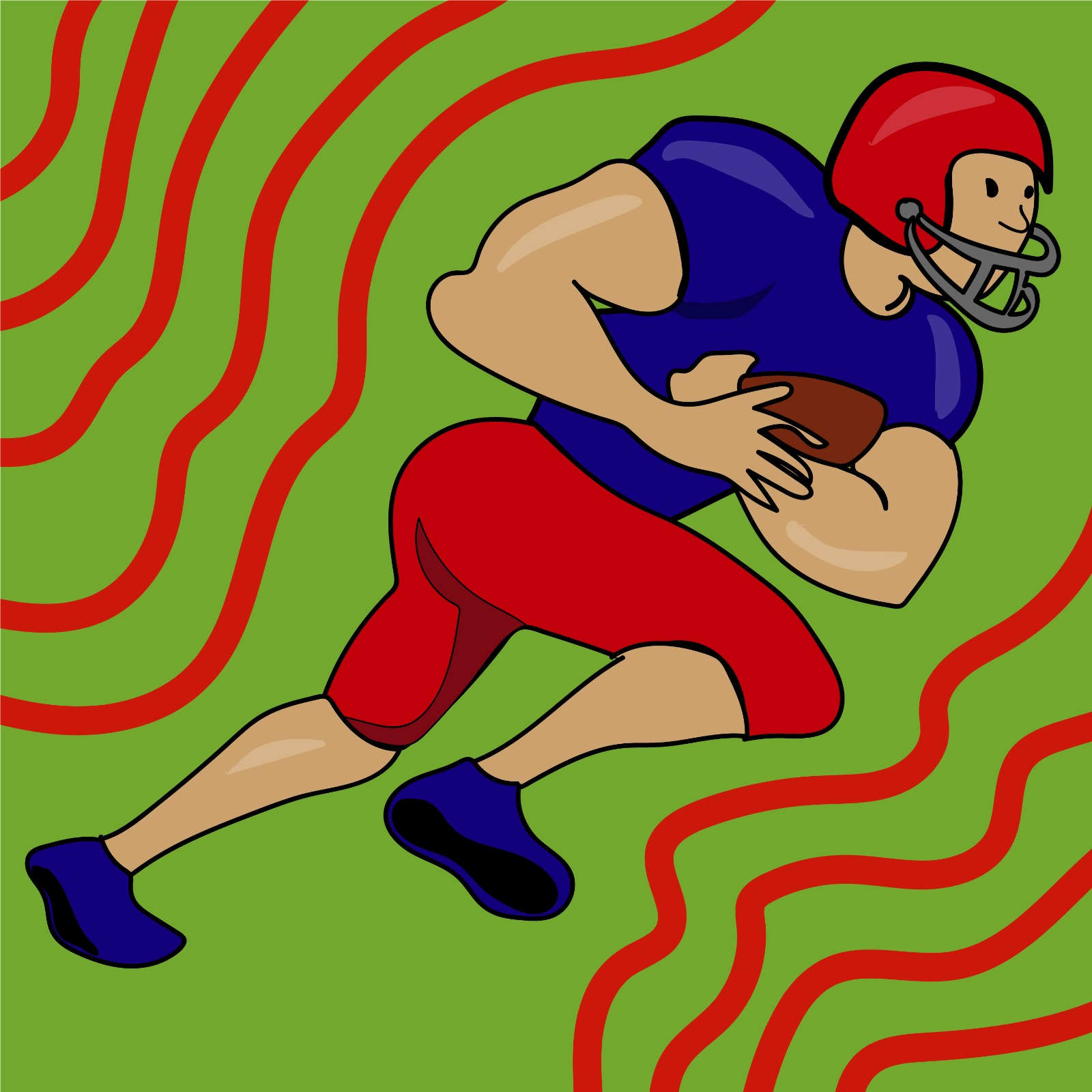 Rita Azar illustrates football player for 360 MAGAZINE