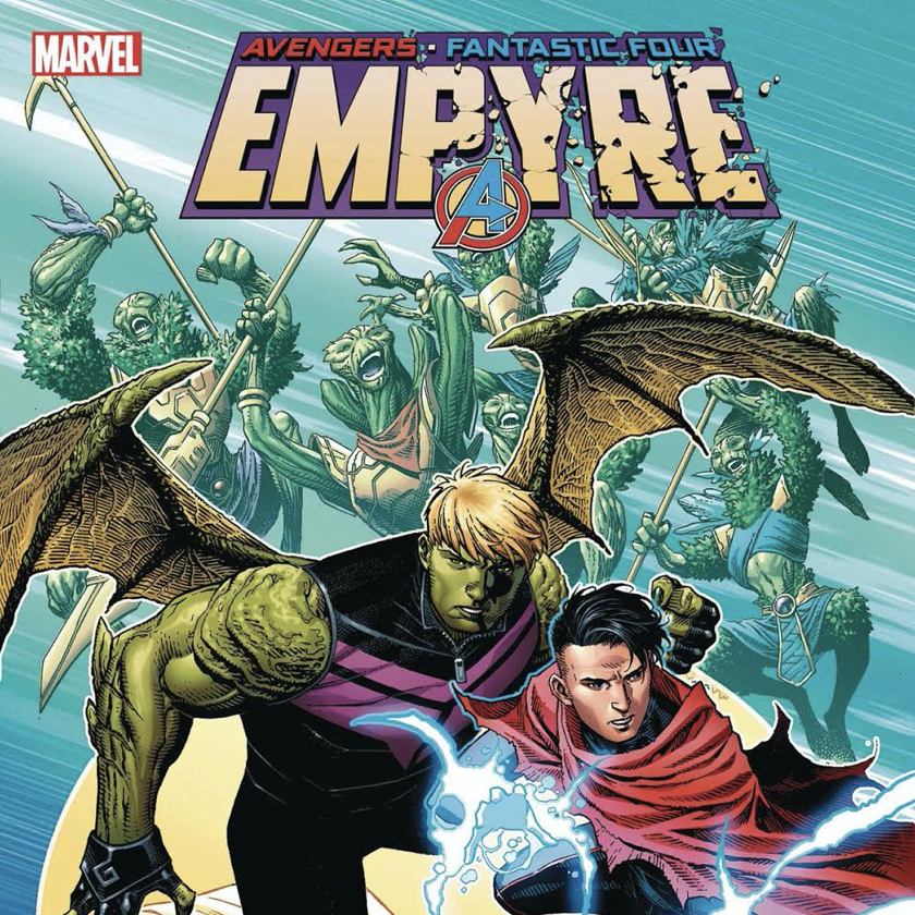 A WEDDING BETWEEN TWO MARVEL HEROES IS REVEALED IN EMPYRE #4!