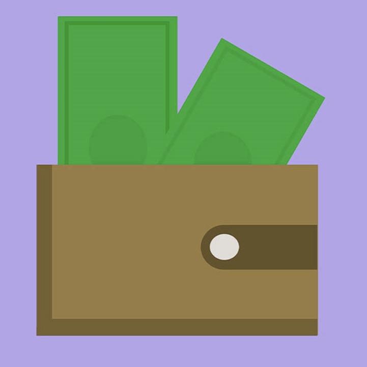 Cash and wallet illustration for 360 Magazine