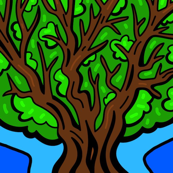 Tree illustration done by Mina Tocalini of 360 MAGAZINE.