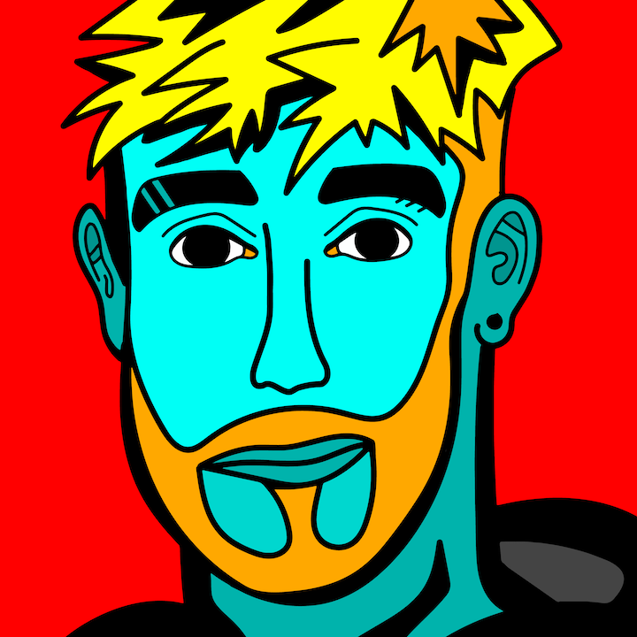 Jake Paul illustration done by Mina Tocalini of 360 MAGAZINE.