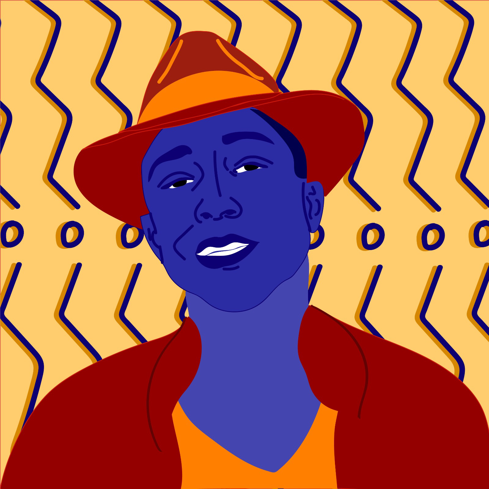 Pharrell Williams illustrated by Rita Azar for 360 MAGAZINE