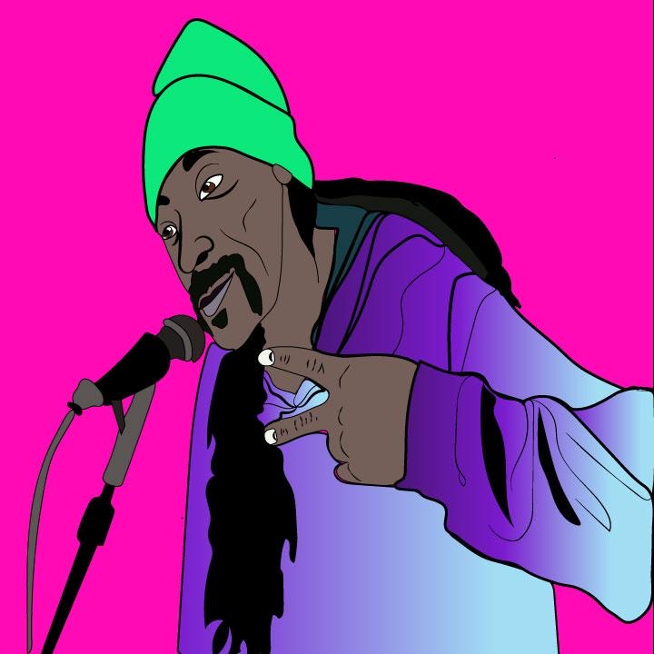 Kaelen Felix draws Snoop Dogg for 360 Magazine