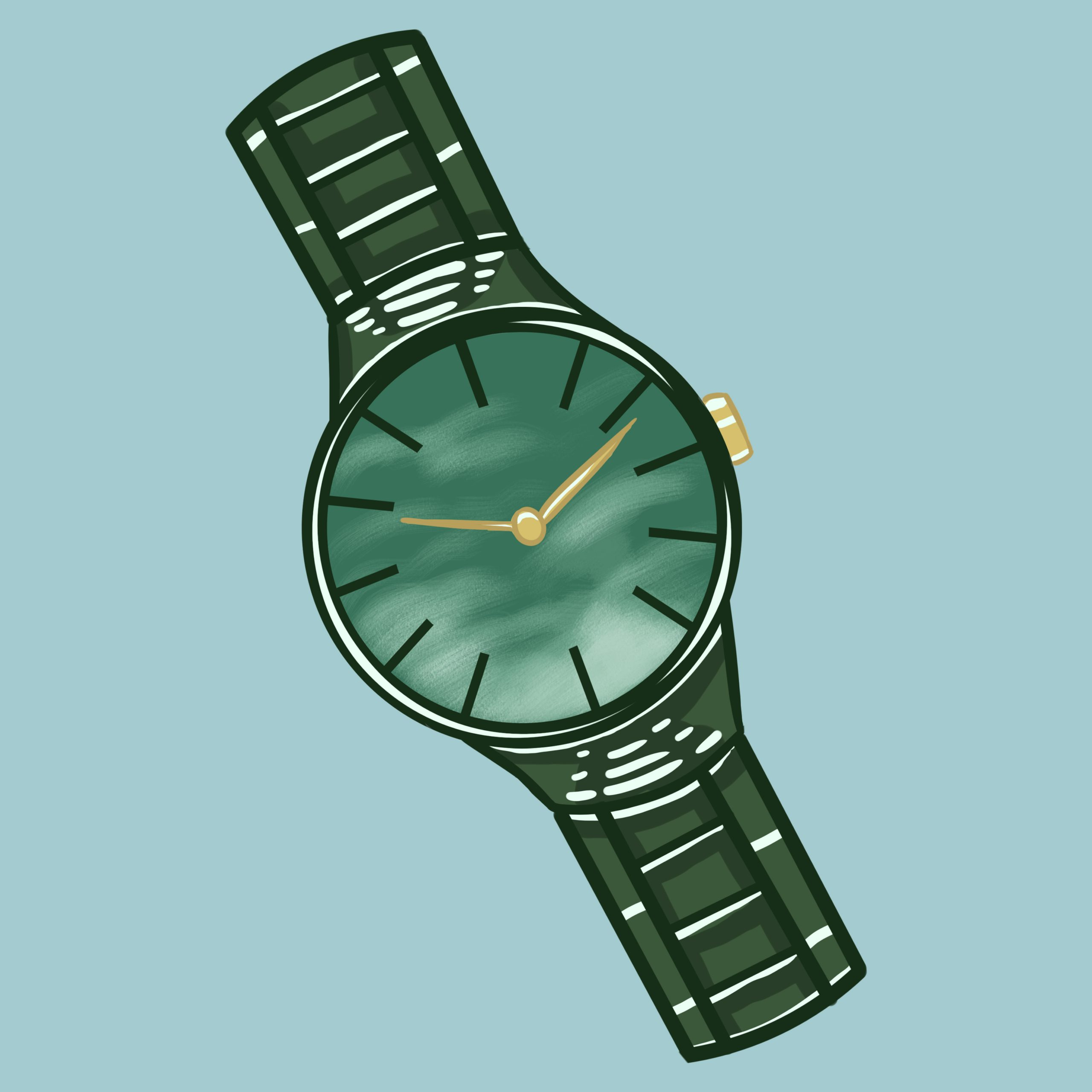 Allison Christensen illustrates a watch for 360 Magazine