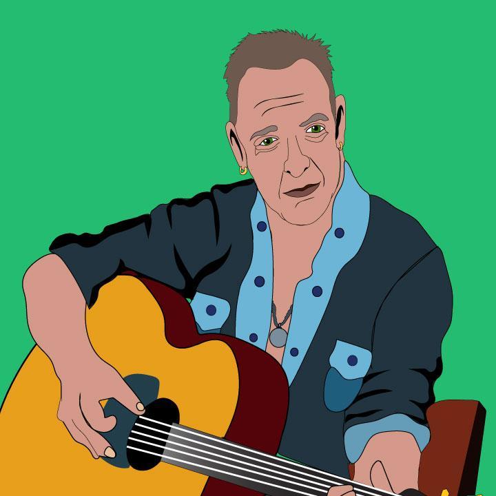 Bruce Springsteen illustration by Kaelen Felix for 360 MAGAZINE