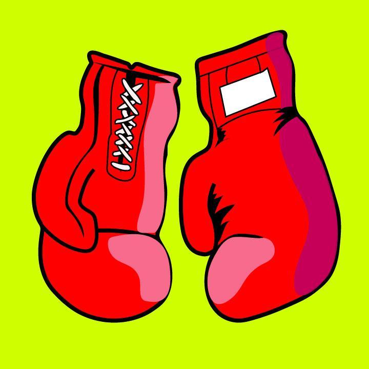 Sparbar boxing illustration for 360 Magazine by Kaelen Felix