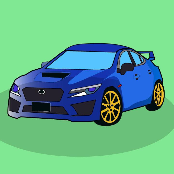 Kaelen Felix illustrates Subaru for 360 Magazine