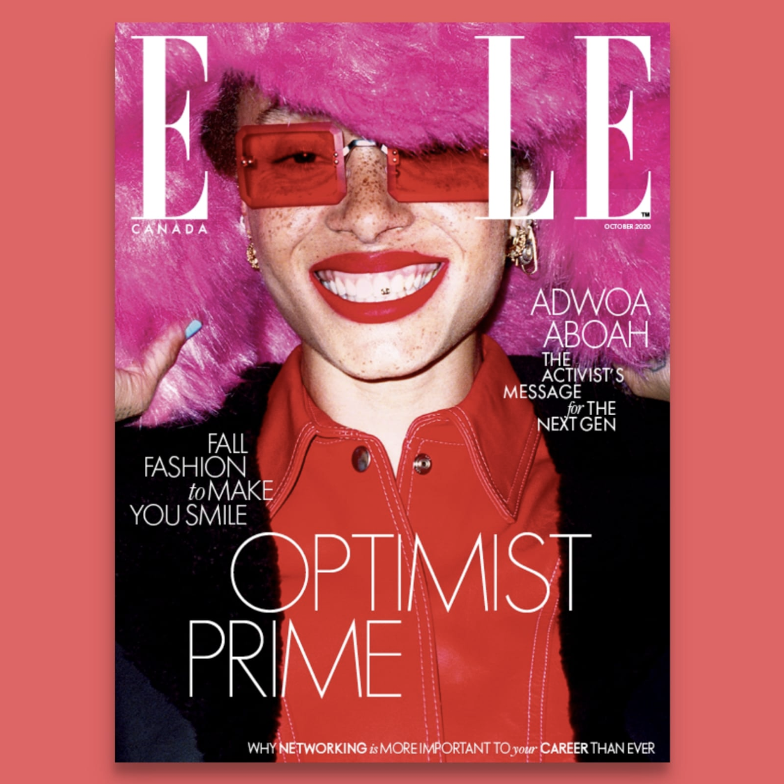KO Media's Elle Canada Adwoa Aboah Cover covered by 360 Magazine