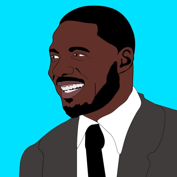 Netflix article about Idris Elba illustration by Kaelen Felix for 360 MAGAZINE.