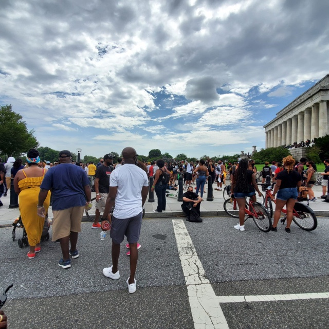 vaughn lowery attends BLM march on washington for 360 MAGAZINE