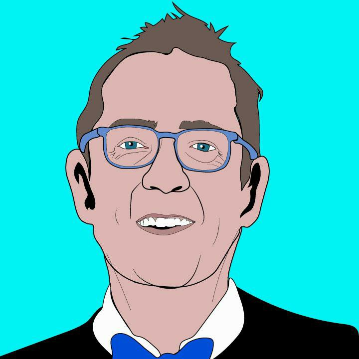 Ted Allen illustration by Kaelen Felix for 360 magazine.