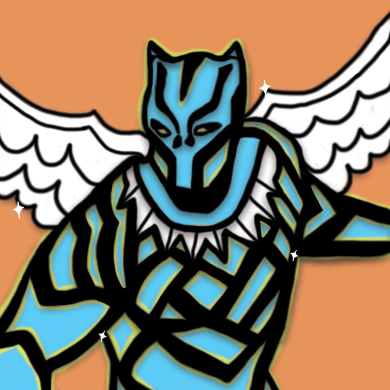 Symara Briel Wilson illustrates Black Panther for 360 MAGAZINE.