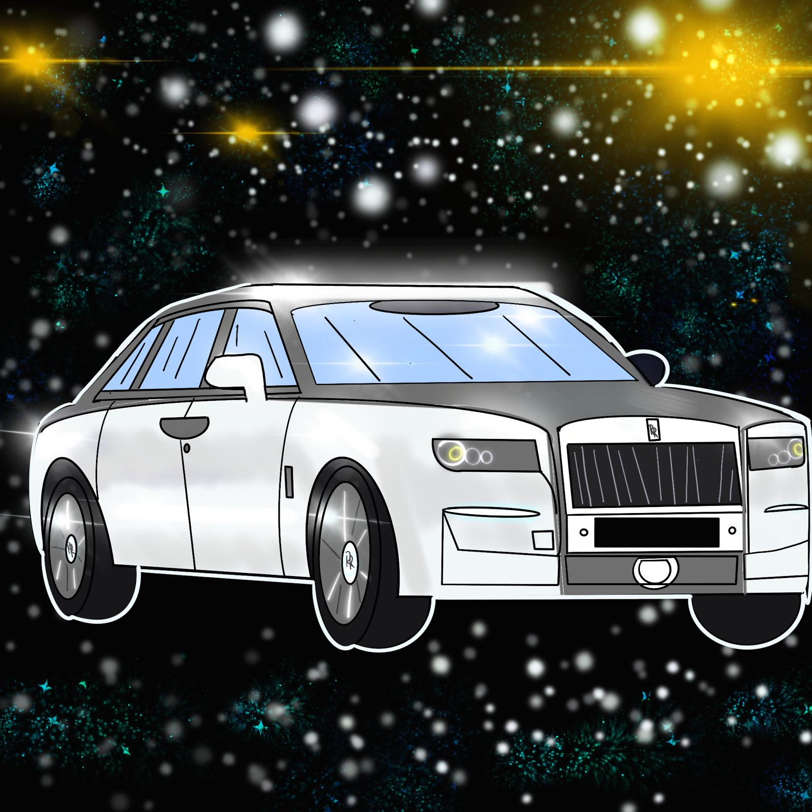 Nicole Salazar illustrates new Rolls-Royce for 360 MAGAZINE.