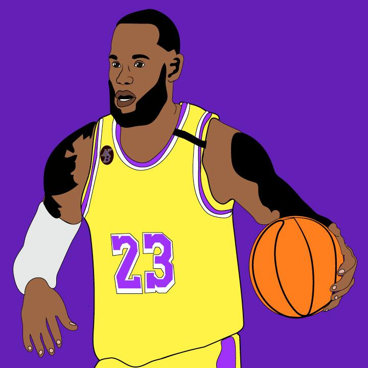 Kaelen Felix Illustrated a Basketball Article for 360 MAGAZINE